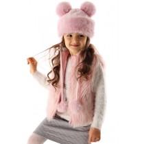Dievčenská čiapka zimná dáma ružová
