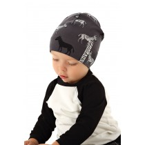 Chlapčenská čiapka Zibi šedá