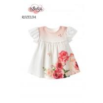 Dievčenské šaty s bodíkmi Rozelda