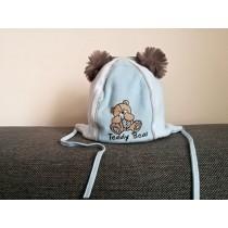 Chlapčenská čiapka Medvedík Pysio modrá