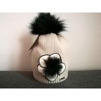 Dievčenská pletená čiapka 121 D béžová