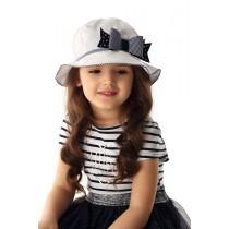 Dievčenský klobúk Károvaná mašlička