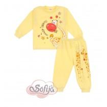 Dievčenské pyžamo žlté