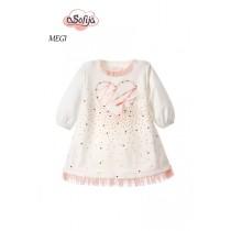 Dievčenské šaty Megi s bodíkmi