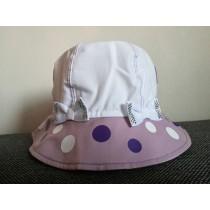 Dievčenský klobúčik Veľké bodky fialový