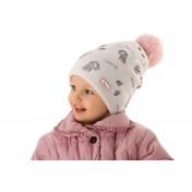 Dievčenská čiapka Sladká zima oteplená