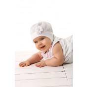 Dievčenká čiapka Florka biela