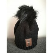 Dievčenská čiapka pletená 1 D čierna