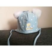 Chlapčenská čiapka Pastelový macko modrá