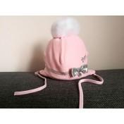 Dievčenská čapica Agatka ružová