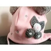 Dievčenská čiapka Lilli ružová