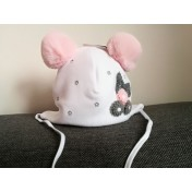 Dievčenská čiapka Lilli biela
