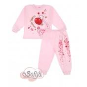 Dievčenské pyžamo ružové